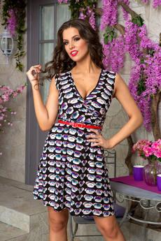 Летнее платье без рукавов с глубоким декольте Angela Ricci со скидкой
