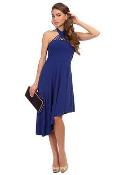 Платье с асимметричной юбкой Mondigo
