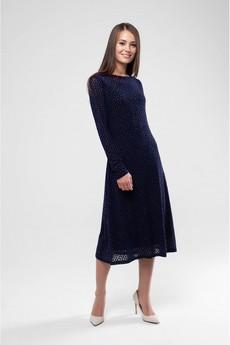 Платье из сетки с бархатом Marimay со скидкой