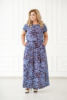 Длинное платье из штапеля Шарлиз со скидкой