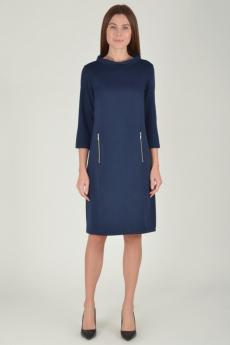 Темно-синее платье с карманами Viserdi