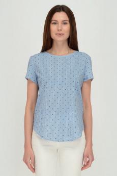 Голубая блузка в полоску Viserdi со скидкой